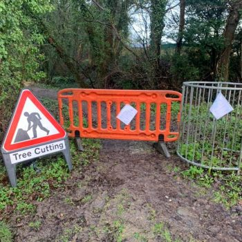 Footpath closed for tree services