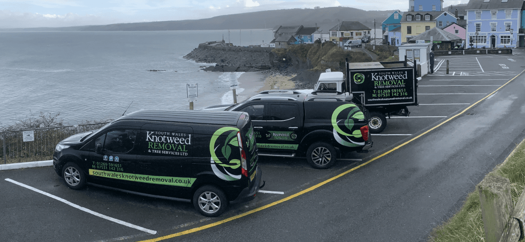South Wales Knotweed removal vehicles